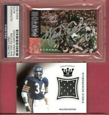 WALTER PAYTON PSA /DNA CERTIFIED AUTOGRAPH & GAME USED JERSEY CARD CHICAGO BEARS