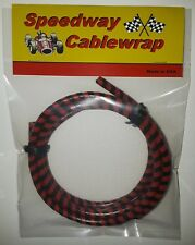 Black & Red Speedway Cable Wrap Coil Cover Motorcycle /  Bicycles / Scooters