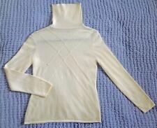 Classiques Entier 100% cashmere cream turtleneck sweater size XS