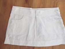 Ladies CTN SOFTWASH Skirt Size 10 White Short Mini Cotton