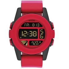 Nixon Digital Sport Watch Unit Red Mens A1971488