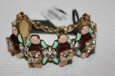 NWT Authentic J Crew Stacked stones bracelet Sweet Mint A7713