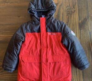 ZeroXPosure Hooded Full Zip Coat, Boys Large (7)x Red Black