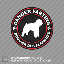 Danger Farting Bouvier des Flandres Sticker Decal Vinyl dog canine