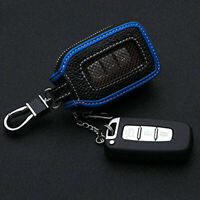 Car Auto Key Chain Bag PU Leather Smart Key Holder Cover Remote Fob Zipper Case