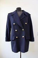 Jaeger Navy Wool Military Style Blazer Jacket Size M UK 12