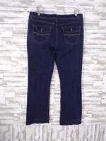 Jordache Size 12 Women's Blue Jeans Boot Cut Stretch / Cotton Blend Denim #EJ-9
