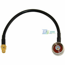 20cm RG58 N Male Right Angle to SMA Female Jack Connectors RF Coax Pigtail Cable