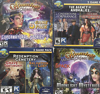 Hidden Object Games Lot PC Windows 10 8 7 XP Computer Puzzle Games x4