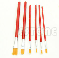 Red 6pcs Nylon Acrylic Painting Drawing Oil Paint Brushes Pen for Art Artist New
