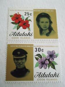 1973 Aitutaki Royal Wedding m/m Mi.81/2. T78