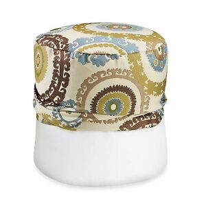 Suzani Blue/Green Footstool Cover