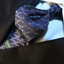 RALPH LAUREN [NEW]  Blue with White Geometric Tie