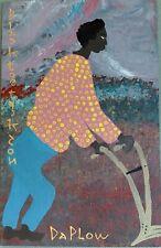 Black Joe Jackson African American Folk Art Painting in Original Condition