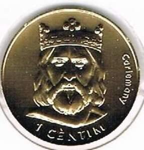 Andorra 2002 vergulde / gold plated 1 centim (goud007)