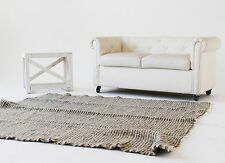 Wool Carpet Handmade Carpet Rugs Sheep Wool Grey Beige Rug 200x210 cm Throw Rug