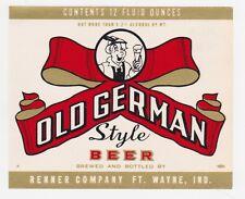 Old German Beer Label
