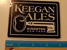 Beer STICKER ~ KEEGAN Ales ~ Kingston, NEW YORK ** Add'l Stickers Only $0.25 S&H