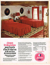 PUBLICITE ADVERTISING 104  1966   EPEDA   lits jumeaux  DECORATION PROVENCE