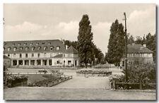 Bad Saarow - J. R-Becher-Platz, s/w Foto-AK um 1960