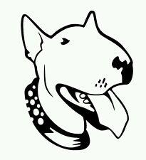 Pegatina Adhesivo Bull Terrier 12 CMS Sticker Aufkleber Autocollant