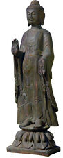 "40"" Enlightened Buddha on Lotus Buddhist Statue Sculpture replica reproduction"