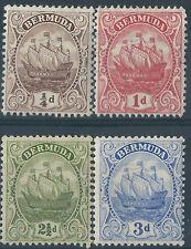L008) Bermuda 1922/34. MM. SG 77,79,81a,83.  Ships. c£37+