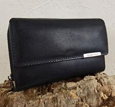 Leder Damen Geldbörse Großes Portemonnaie Brieftasche für Frauen viel Platz