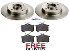 FOR PEUGEOT 307 CC 1.6 2.0 16V REAR BRAKE DISCS & PADS WHEEL BEARINGS ABS RINGS