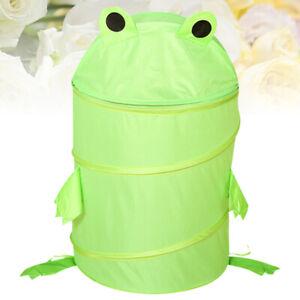 1PC Wäschekorb Faltbarer Cartoon Frosch Wäschebehälter Kinder Spielzeugbehälter