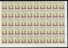 Portuguese Guinea Scott 277, 10c Missionary Art Exhibition, block of 50, VF-NH
