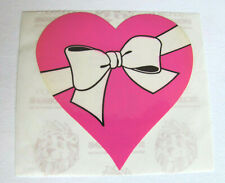 Rare Vtg 80's Sandylion Glossy Pink Heart in a White Bow Sticker