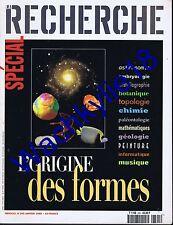 La recherche n°305 01/1998 Spécial l'origine des formes Sciences physiques