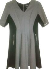 Liz Claiborne Black White Gray Elbow Sleeve Dress Sz. 14