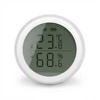 Zigbee Temperatur Feuchtigkeit Sensor Tuya Kabellos Kontrolle W / Display #R