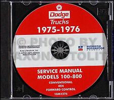 1975-1976 Dodge Truck CD Shop Manual 75 76 Pickup D100 D200 D300 W100 W200 W300
