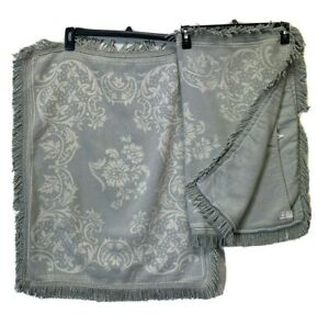 Lamont Home Pillowcase Set Standard Pillow Sham Size 20 x 26 Gray tassel