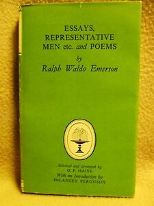 Ralph Waldo Emerson, Essays and Poems Collins Classic reprint 1967 0f 1st 1954.