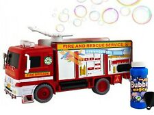 NEW BUBBLE FIRE ENGINE TRUCK ELECTRIC TOY WITH LIGHTS SOUNDS & ENTERTAINMENT FUN