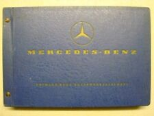 MERCEDES BENZ CHASSIS AND BODY SPARE PARTS LIST EDITION B ref:10160 JANUARY 1969