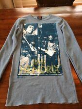 Jimi Hendrix Long Sleeve Shirt Vintage Zion Rootswear 65%Cotton 35% Polyester