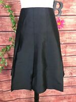 Banana Republic Skirt size 6 Black Silk Pleated Knee Cocktail Wedding Modest