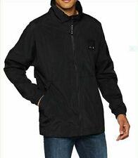 Nike Luft Varsity Gewebt Herren Verpackbar Reißverschluss Jacke Schwarz XS
