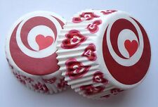 Tunnel Of Heart Party Cupcake Liner Baking Cup 50 count Standard Size Red Love