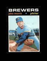1971 Topps Baseball #721 John Morris (Brewers) NM