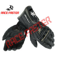 NEW SUZUKI HAYABUSA MEN MOTORBIKE MOTORCYCLE MOTO RACING RIDING LEATHER GLOVES