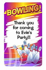 labels sweet  cones boxes Bowling 21 personalised birthday stickers