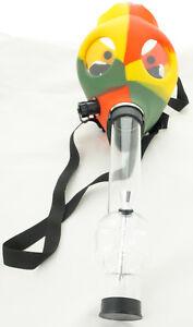 Silicon Gas Mask Bong Hookah Smoking Solid Rasta Color Mask w/ Gift Box - USA