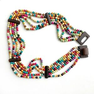 Vintage Wooden Adjustable Belt  Wood Beads  Metal Links  70s Belt  Hippie  Boho  Bohemian  Link Belt  Tassel Belt  Disco Queen