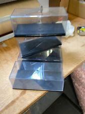 """Lot of 5 Stacking Plastic Acrylic Display Cases 1:24 NASCAR DieCast Car 9""""x4'x4"""""""